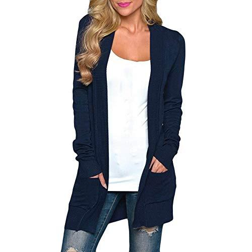 Homebaby Maglione Donna Elegante Giacca Casuale del Cappotto Manicotto A Maglia delle Cappotto Donna Elegante Donna Autunno Invernale Manica Lunga Cardigan