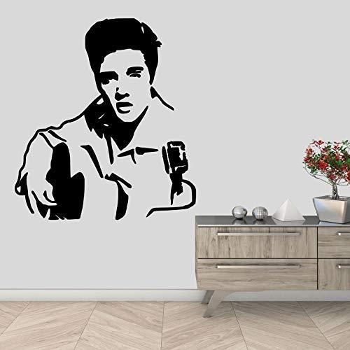 wZUN King of Rock Roll Icon Calcomanía de Pared Cantante Artista Familia Sala de Estar Decoración extraíble 85X93cm