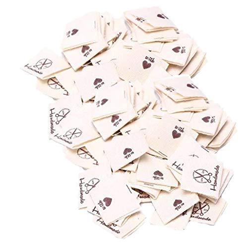 Ruluti 50pcs Kleidung Etiketten Nähen Etiketten Sew-on-Etiketten Individuell Gestaltete Kleidung Etikett Für Handwerk Nähen Bekleidung Dekoration