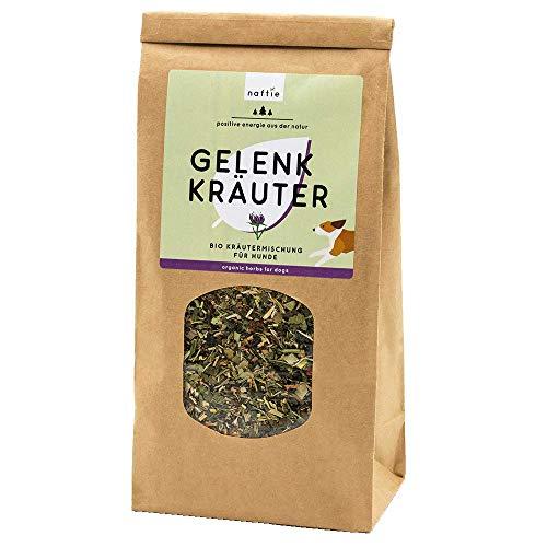 naftie Bio Gelenk Kräuter Mix | Kräutermischung getrocknet für Hunde | Gelenke, Sehnen & Bänder | Barfkräuter Barf-Zusatz | 100% veganes Naturprodukt | 200g