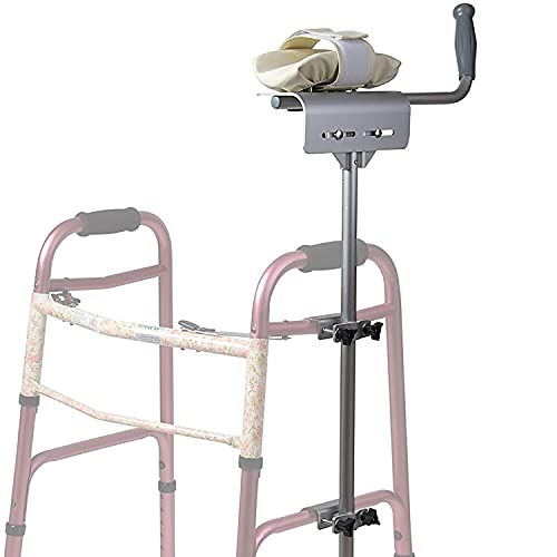 DMI - Walker Platform Attachment with Adjustable Padded Cuff, No Tools Needed, Attaches to Most Walkers, Made of Lightweight Aluminum, Silver