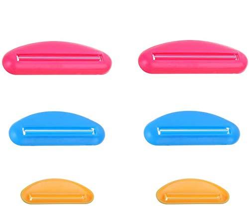 GCOA 6 Stück Kunststoff Zahnpasta Squeezer Kreative Creme Zahnpastaspender Tube L/M/S