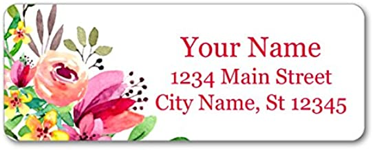 Personalized Return Address Labels - Beautiful Flowers Design - 120 Custom Self-Adhesive Stickers