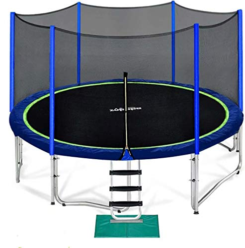 Zupapa 15 FT Trampoline for Kids with Safety Enclosure Net 375 LBS Weight Capacity Outdoor Trampolines with All Accessories