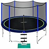 Zupapa 15 14 12 10 8ft Outdoor Trampoline with 425lbs Weight Capacity for Kids Adults,Trampolines...