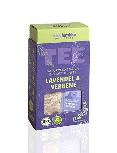 Naturbelassener Bio-Kräutertee Lavendel & Verbene 12 x 2,5 g Bio