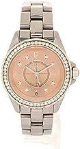 [シャネル]CHANEL J12 クロマティック腕時計 H2563 ピンク セラミック チタン レディース ダイヤベゼル 8Pダイヤ ピンク文字盤 表記サイズ 33mm 中古