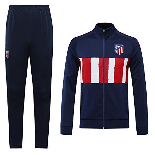 LQRYJDZ Traje de Entrenamiento de fútbol Atlético Madrid Club Equipo de la Competencia Traje de la Chaqueta de Ropa Deportiva Juego de Chaquetas de fútbol de fútbol (Opciones múltiples)