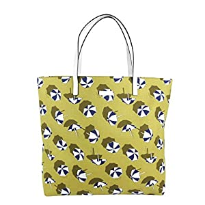 Fashion Shopping Gucci Women's Heartbit Canvas Yellow/Parasol Tote Handbag With Parasol Print 295252 7309