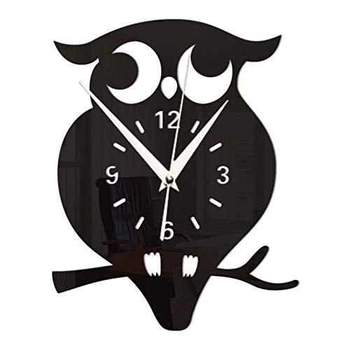 hufeng Wall Clock 3D Diy Owl Wall Clock Acrylic Stickers Quartz Wall Clocks Living Room Kitchen Wall Clocks Living Room Home Decor