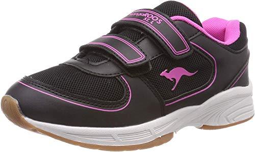 KangaROOS Sinu V Unisex-Kinder Sneaker, Gelb (Jet Black/Daisy Pink 5025), 30 EU