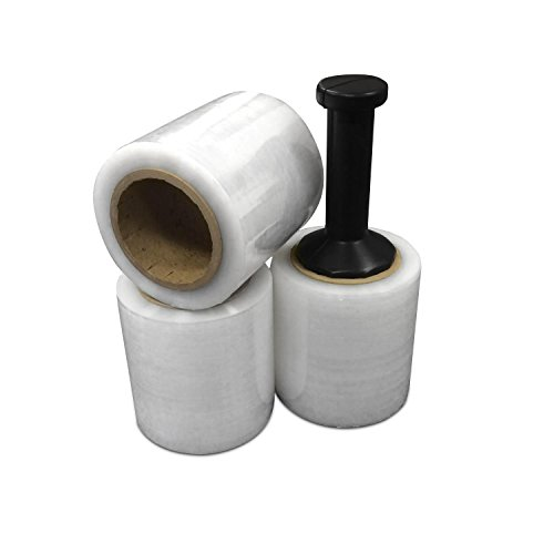"5"" Rolls Stretch Wrap - 5"" x 1000' Shrink Film - Stronger Heavy Duty 80 Gauge Polyethylene - (3 Rolls Per Case)"