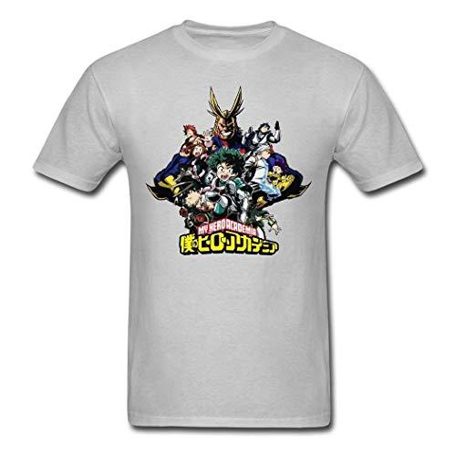 Ashirt Moda Hombre y Mujer Camiseta Hero Academia Logo Edgy Algod¨®n Camiseta...