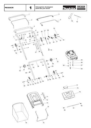 Achterklep, origineel onderdeel voor Dolmar PM5600S3R, 671004613
