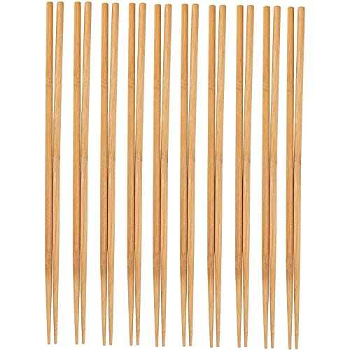 Cooking Chopsticks - 10-Pack Extra Long Cooking Chopsticks, For Cooking, Frying, Hot Pot, Noodles in Chinese and Japanese Style, Natural Bamboo, 16.5 Inches