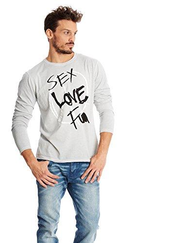 Desigual Camiseta, Gris Plata, M para Hombre