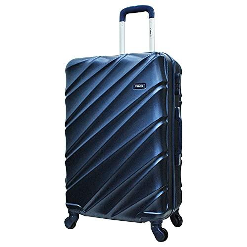 Mala De Viagem De Bordo Yin's P 55x33x23 Rígida Abs 360º Azul Suporta 10kg