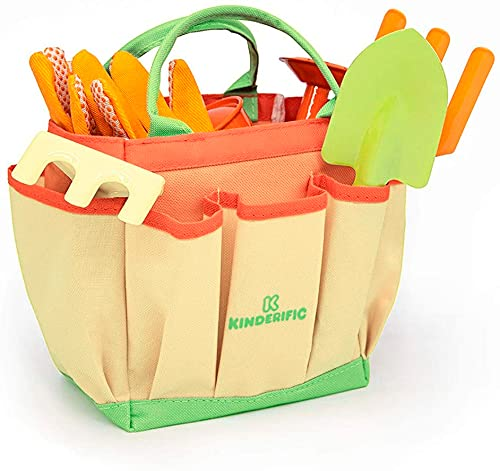 Kinderific Gardening Tool Set, Designed for Kids, STEM, Tote Bag,...