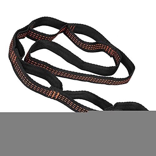 Demeras Extensor de yoga Cuerda de entrenamiento de fitness Sistema de suspensión Kit de entrenamiento Daisy Chain Extensión Correa de yoga hamaca Correa de extensión para yoga aéreo (rojo)