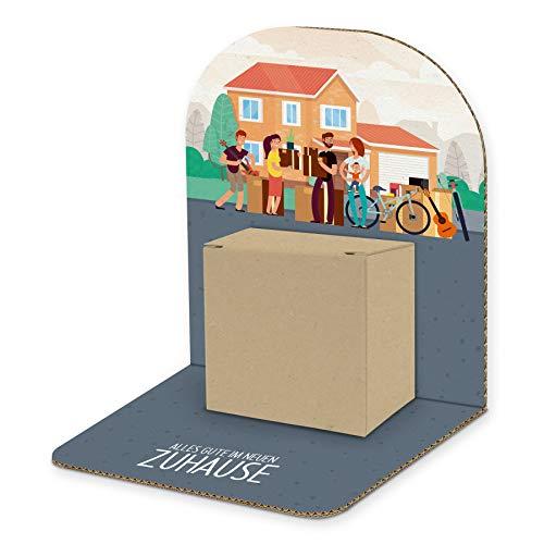 itenga Geldgeschenk Basic I Motiv Umzug Alles Gute im neuen Zuhause I Mitbringsel I Gutschein I Geschenkverpackung zum Aufstellen inkl. Geschenkbox