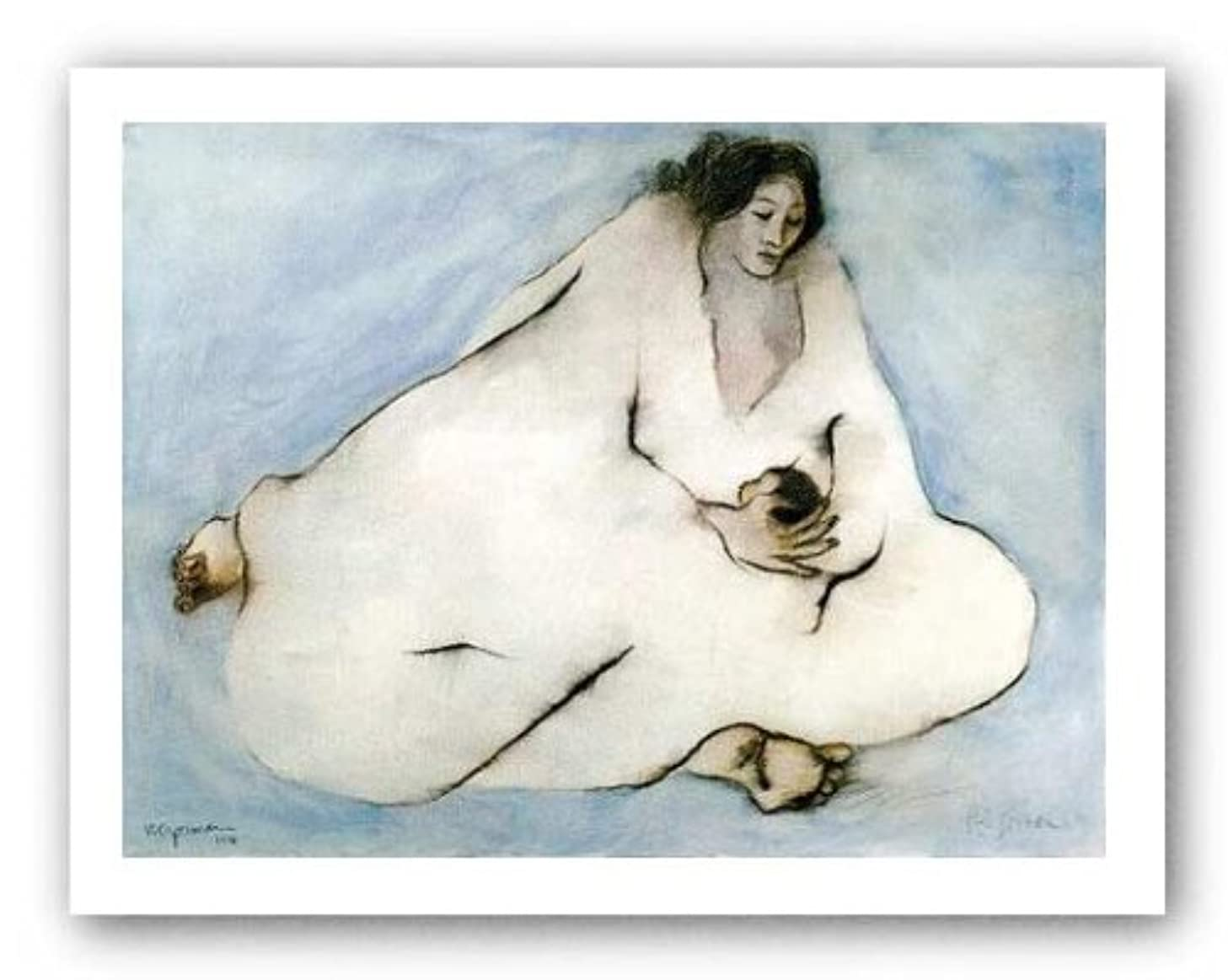 Mother and Child by R.C. Gorman - 18 x 25 inches - Fine Art Print / Poster