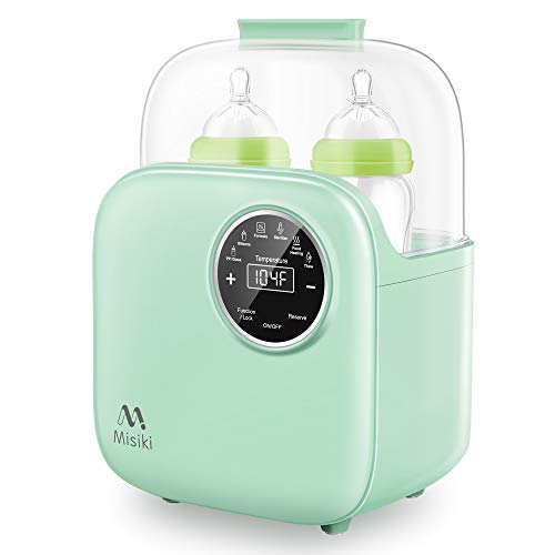 Bottle Warmer Misiki 6in1 Baby Bottle Warmer and Bottle Sterilizer with Smart Temperature Control amp Fast Heat for Breast Milk and Formula Portable Milk Food Heater amp Defrost with LCD Touch Display