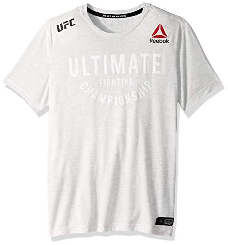 UFC Reebok Men's Walkout Jersey Franchise, Chalk Heather, XX-Large
