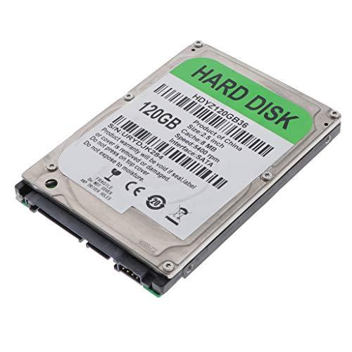 Gazechimp 2.5 '' Disco Duro Mecánico SATA 2 8M HDD 250GB, más Fácil de Instalar y Ahorrar Espacio - 120GB