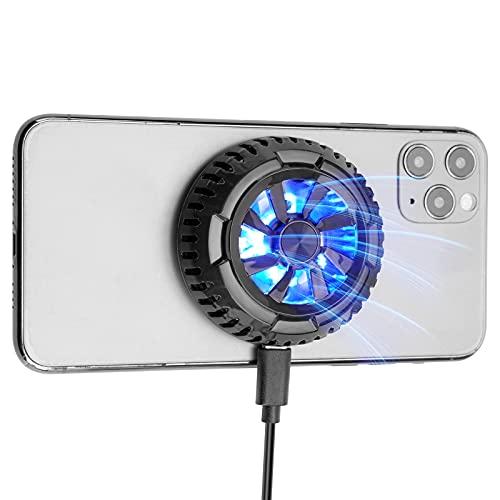 2021進化版 スマホ タブレット 冷却ファン 五重冷却技術 磁気式 ペルチェ素子 USB給電 半導体 効果抜群 軽量 静音 iPhone/iPad 多機種対応 ブラック 1年保証