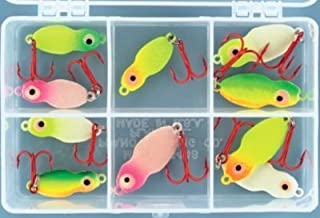 Lindy Techni-Glo Value Pack Ice Fishing Kits - Frostee Jigging - 10 Pieces