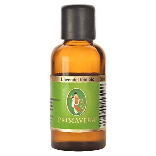 PRIMAVERA Ätherisches Öl Lavendel fein bio 50 ml - Aromaöl, Duftöl, Aromatherapie - ausgleichend, beruhigend, entspannend - vegan