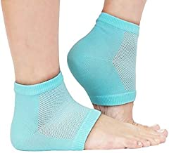 Jini Collection® Gel Heel Socks for Dry Hard Cracked, Swelling & Pain Relief, Foot Care, Ankle Protection,1 Pair
