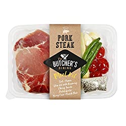 The Butcher's Dining Pork Steak Meal Kit, 410g - Chilled