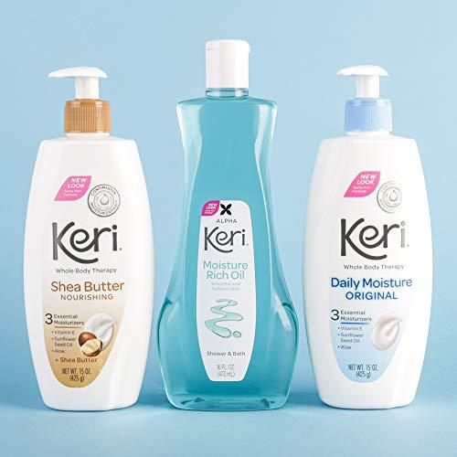 Keri Shower & Bath Moisture Rich Oil, Delicate, 16 Fl Oz