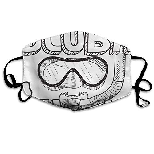Scuba Diving Decoratief mondmasker voor mannen en vrouwen stofdicht gezichtsmasker voor volwassenen en tieners
