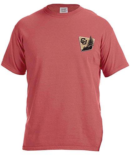 Image One NCAA Adventure Camping Short Sleeve Komfort Farbe Tee, Unisex, Adventure Camping, Braun (Cumin)