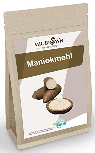 Mr. Brown Maniokmehl 1kg, Mehl glutenfrei, vegan, ohne Zusatzstoffe, zum Backen und Kochen