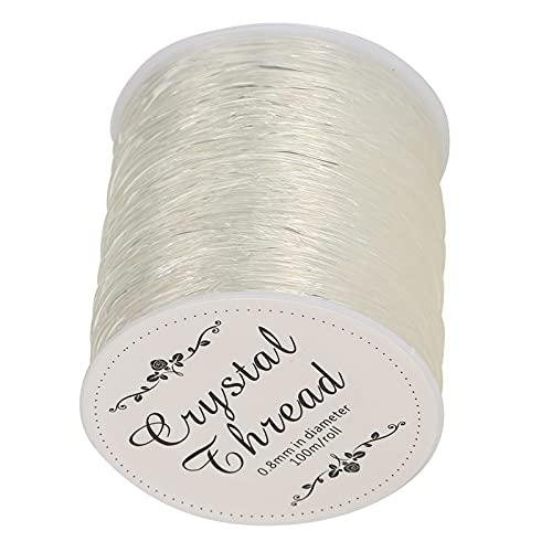 Cordones elásticos de abalorios, hilo de abalorios elástico para bricolaje Cordón de joyería elástico para bricolaje Línea de abalorios brillantes para collar para pulsera para tejido de