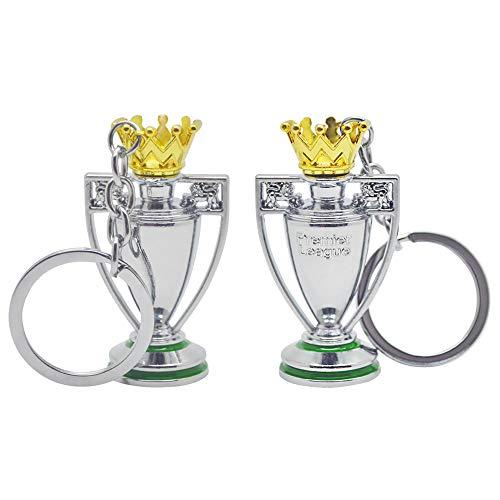 1 Pcs Premier League Mini Trophy Keychain 3D, Llavero De Metal Plateado Souvenirs De Regalo (C)