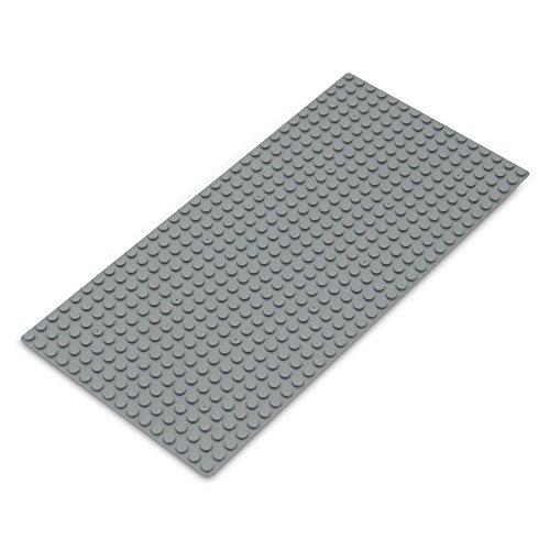 (Veel kleuren en sets) Katara 1672 - platen in 12, 25 cm x 25, 5cm / 16 x 32 pins, noppen; basisbouwplaat voor Lego, Sluban, Papimax, Q-Bricks, My, Wilko Blox, Lego Duplo compatibel 16*32 grijs