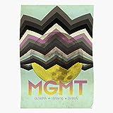 Póster de banda Mgmt Tour Music Indie para decoración del hogar