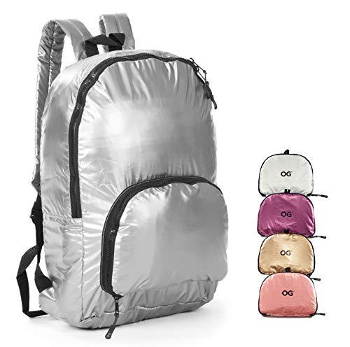 OG Online&Go Damen-Rucksack, Frau Faltbar Ultraleicht 20L, Mädchen-Tasche, Wasserdicht, Klein, Kompakt, Leicht, Einkaufstasche