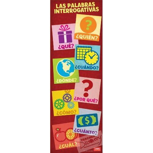 Interrogative Words Skinny Poster Spanish