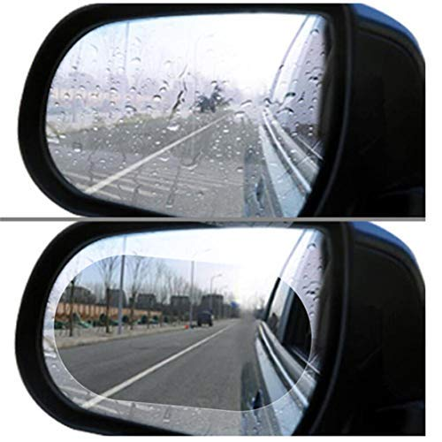 happy event 2Pcs Oval Car Anti Water Mist Film Fog Nano Coating Rainproof Rearview Mirror Window Protective Film | Auto Rückspiegel Schutzfolie, Wasserdicht Regendicht Rückspiegel Schutzfolie-2St