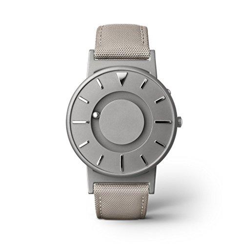 Eone Unisex-Armbanduhr, analog, Quarz, Beige Leinwand, italienisches Leder, wendbares Armband, Titan Bradley Beige BR-C-BEIGE