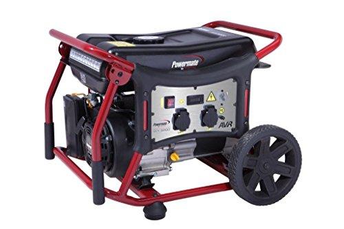 Grupo electrógeno Powermate WX3200.Generador de corriente con ruedas, gasolina