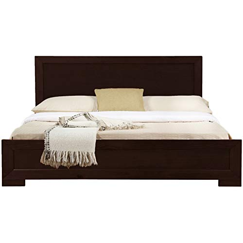 Camden Isle Trent Wooden Platform Bed in Espresso, King