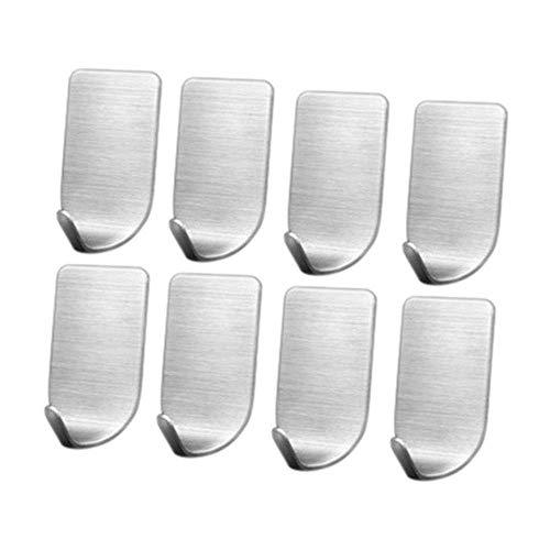 ZGQA-GQA 8 piezas Perchas pared pegajoso auto-adhesivo de ganchos de Utilidad metal que cuelga de los ganchos Keys bolsas de almacenamiento del sostenedor del organizador del estante Herramientas susp