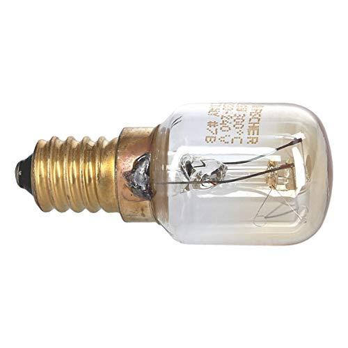 Miele 2825990 ORIGINAK Lampe Glühbirne Glühlampe Gewindelampe Beleuchtung Licht Schraubgewindelampe Rundsockellampe E14 25W 240V Backofen Kühlschrank Mikrowelle