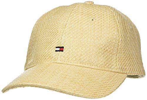 Tommy Hilfiger Damen BB Straw Baseball Cap, Beige (Natural 901), One Size (Herstellergröße:OS)